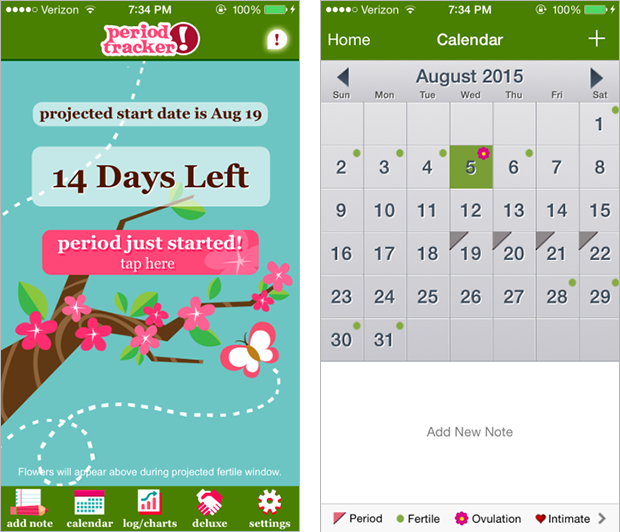 Getting to know Aunt Flo: Apps for tracking your period