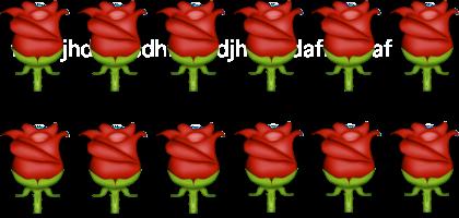 twelve rose emoji
